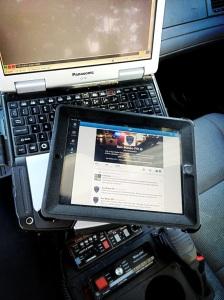 iPad and Police Car